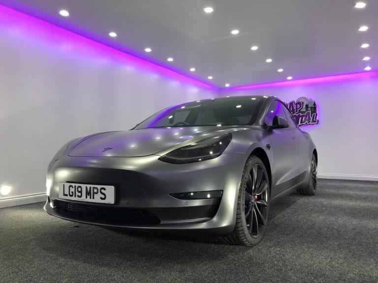 Satin Grey Tesla