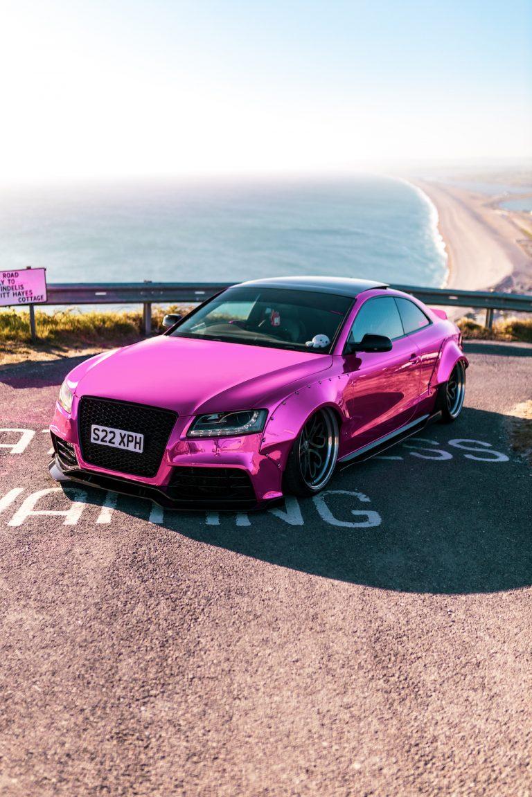 Chrome Pink Audi A5