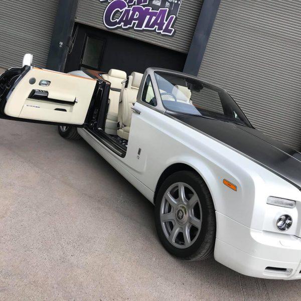 Rolls Royce in Satin Pearl White